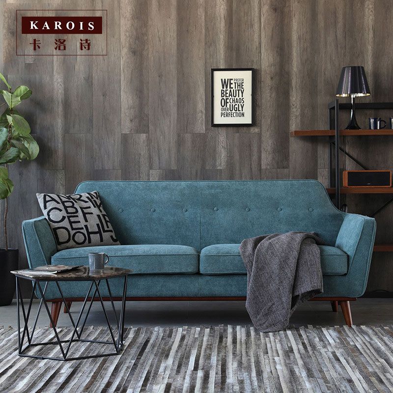Nordic Fabric Sofa Double Removable And Washable Small Apartment Living Room Leisure Simple Design Custom Furniture Living Room Sofas Aliexpress