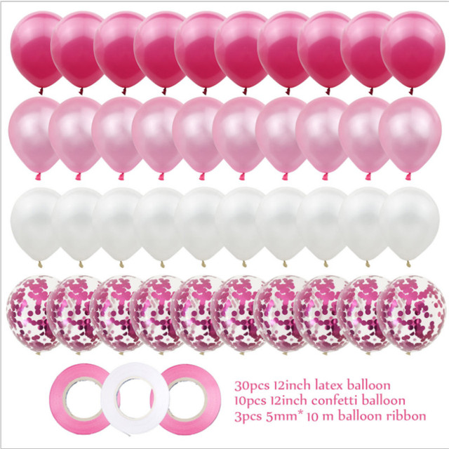 40pcs 12 Pollici Oro Rosa Palloncino In Lattice Set Festa Di Compleanno Decorazione di Cerimonia Nuziale Baby Shower Anniversario 2