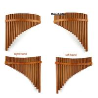 Brown C Key Pan Flute New 22 Pipes Pan Pipe Handmade Music Instruments Chinese Woodwind Musical Instrument Pan Pipe