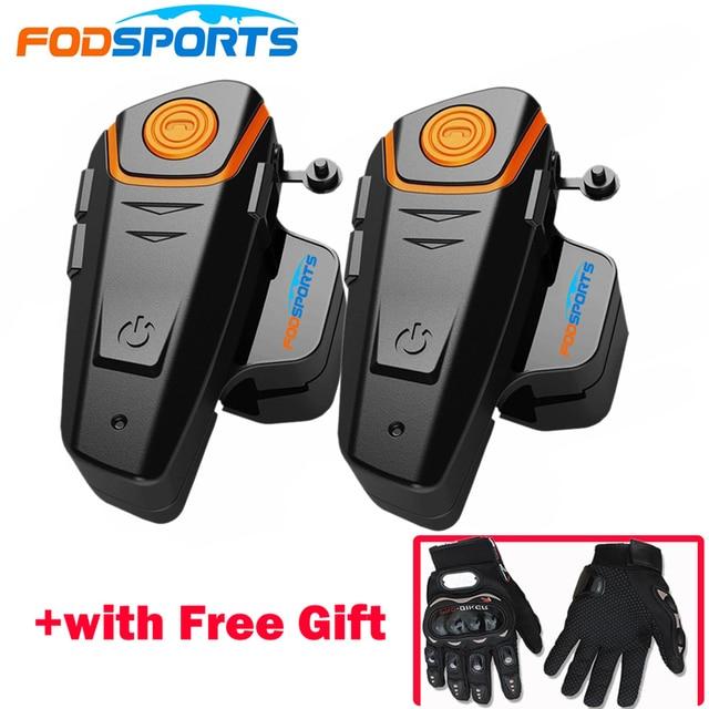 2 pcs BT-S2 Pro Motorcycle Wireless Bluetooth Intercom Headsets 1000m Motorbike Headsets BT Interphone with FM Waterproof IPX6