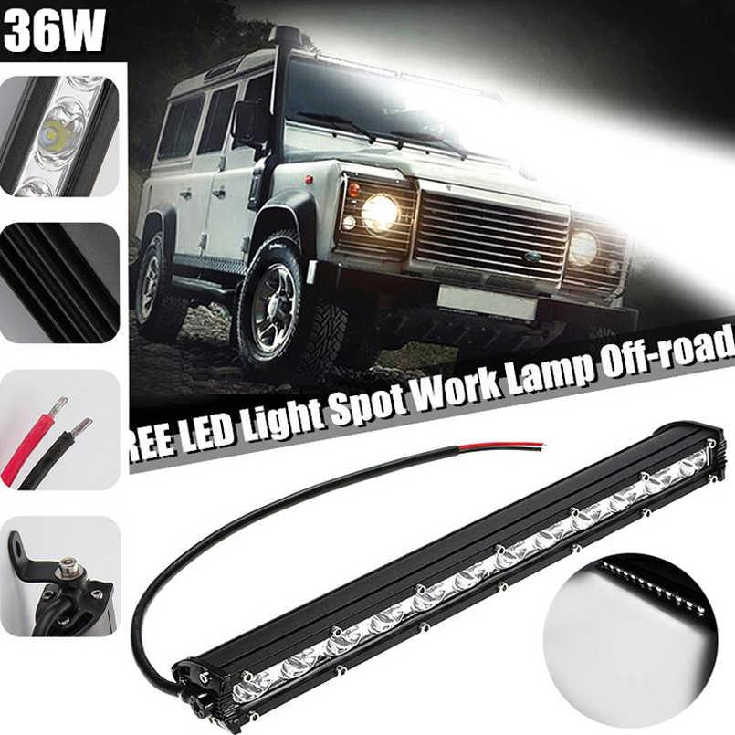 14/'/' 36W LED Work Light Bar Ultra Thin Waterproof Offroad Driving Lamp Spotlight