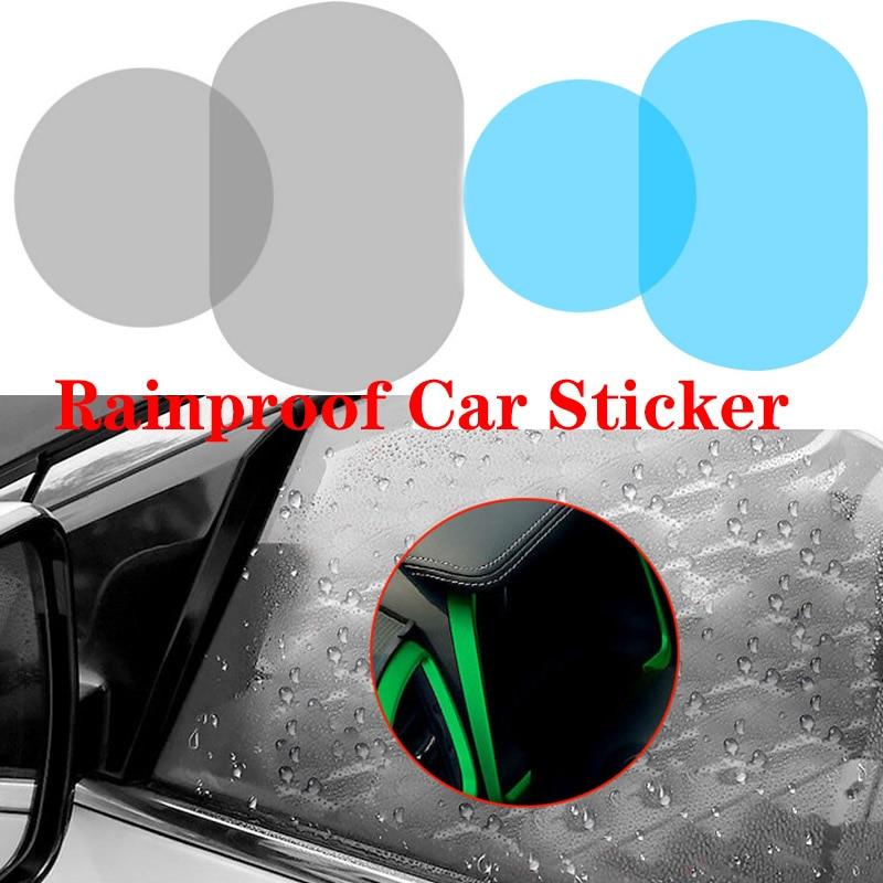 2Pcs Car Rearview Mirror Waterproof Anti Fog Rain Proof Film Side Window Glass Film Anti rain Car Rearview Mirror Cover Films-in Awnings & Shelters from Automobiles & Motorcycles