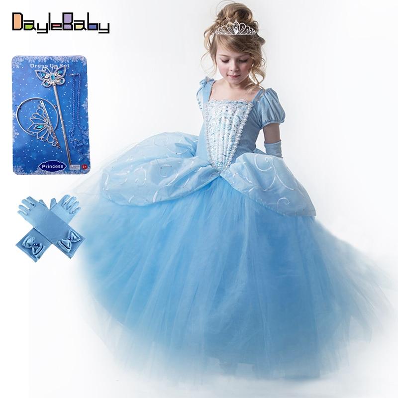 Ballerina Cinderella Girls Classic Disney Princess Fancy Dress Child Costume New