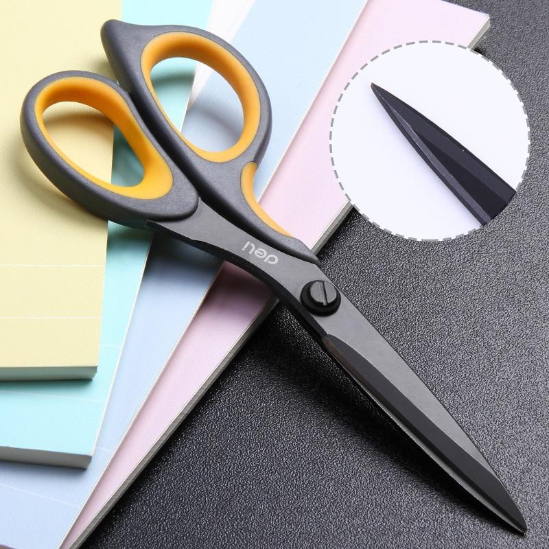 DELI Scissors E6027 Teflon Coated Soft-touch 175mm 6-4/5 Inch Home Office Scissor Hand Craft Scissors Stationery