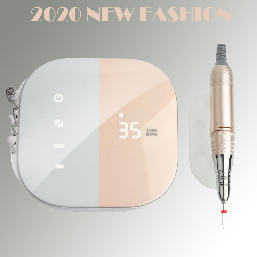 Hb34e1c254a3f47109a2708b6d8f2d4ffG - 2020 New Design Nail Drill 35000 RPM Electric Nail File HD Display Metal Manicre Machine for Nail Art Equipment Nail Sander
