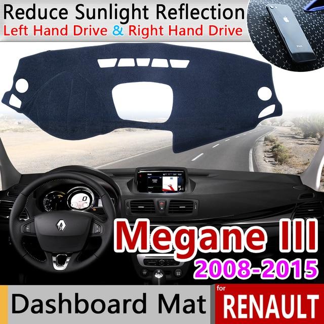 ل رينو ميجان 3 III MK3 2008 2009 2010 2011 2012 2013 2014 2015 كوبيه CC GT المضادة للانزلاق حصيرة لوحة ظلة الملحقات