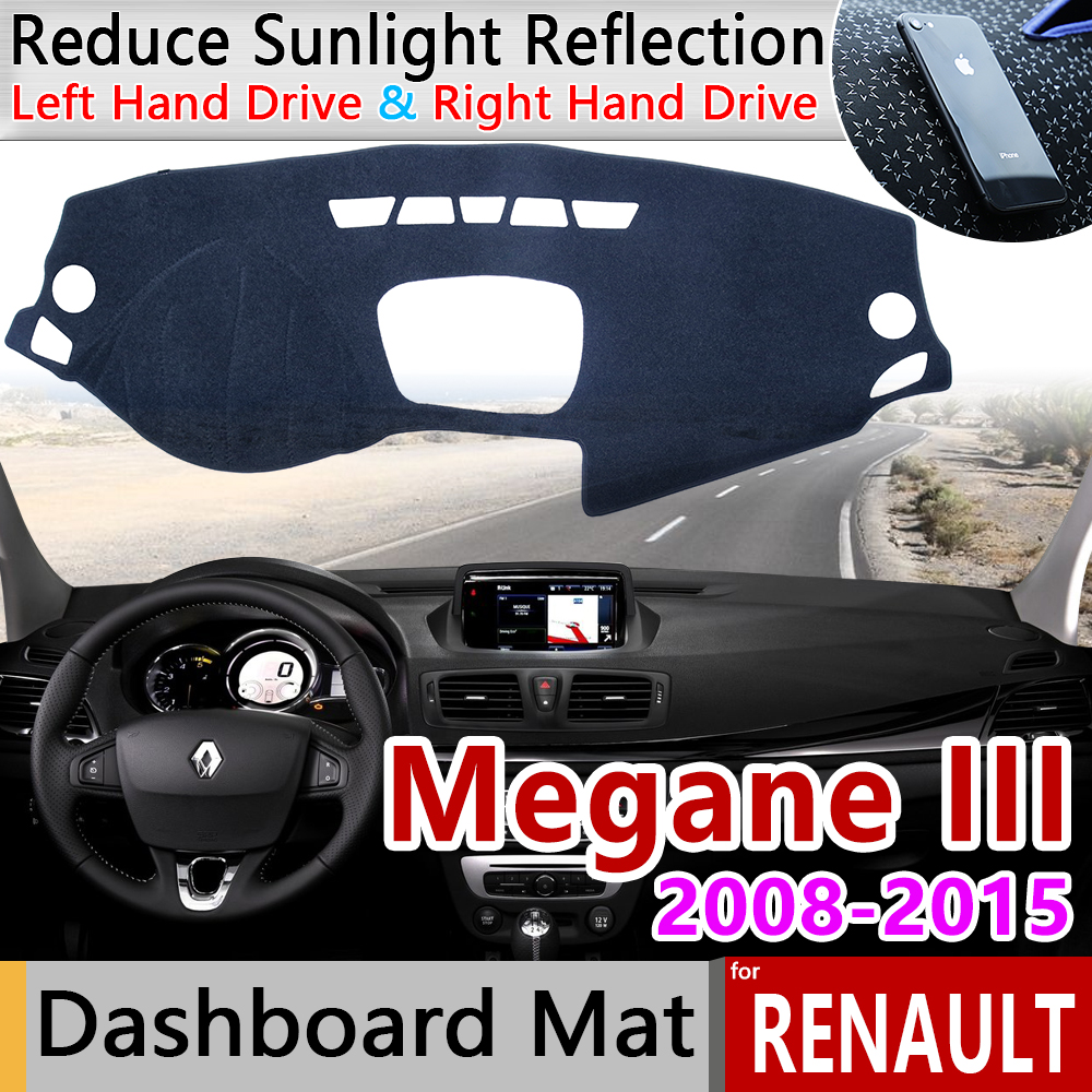 For Renault Megane 3 III MK3 2008 2009 2010 2011 2012 2013 2014 2015 Coupe CC GT Anti-Slip Mat Dashboard Sunshade Accessories