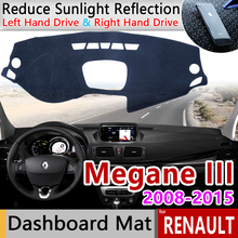 for Renault Megane 3 III MK3 2008 2009 2010 2011 2012 2013 2014 2015 Coupe CC GT Anti Slip Mat Dashboard Sunshade Accessories