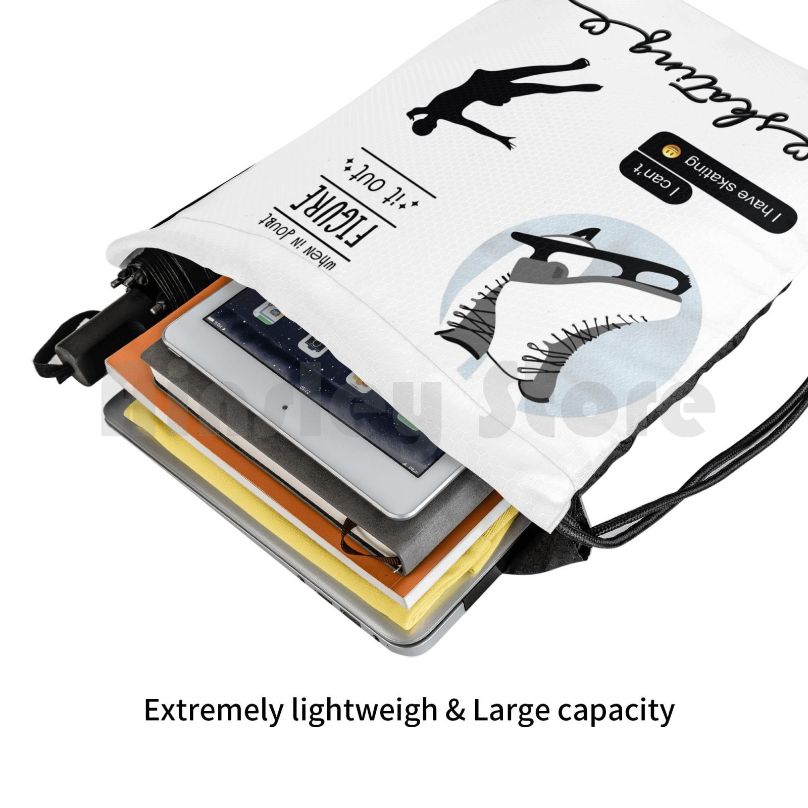 da etiqueta da patinação artística mochila sacos