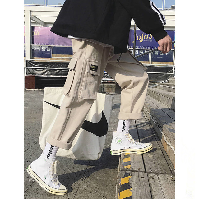 Hip Hop Sweat Pants Embroidery Japanese Style Trousers Sweatpants Streetwear Men Joggers Track Casual Cargo Pants 21