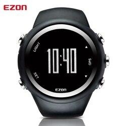 Men's Digital Sport Wristwatch GPS Running Watch With Speed Pace Distance Calorie Burning Stopwatch 50M Waterproof EZON T031