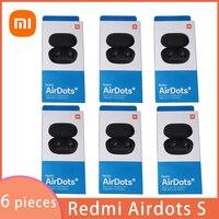 6 pezzi/lottp Xiaomi Original Redmi Airdots S auricolari Mi Xiaomi cuffie Wireless Bluetooth Air Dots cuffie TWS auricolari