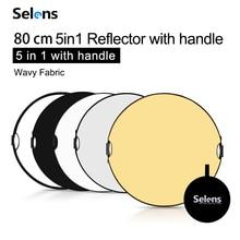 Selens 80 см 5 в 1 отражатель для фотосъемки Портативный отражатель света с чехлом для фотографий аксессуары для фотостудии
