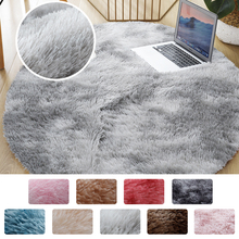 Round Thick Carpet for Living Room Plush Rug Children Bed Room Fluffy Floor Carpets Home Decor Rugs Soft Velvet Mat Anti-slip