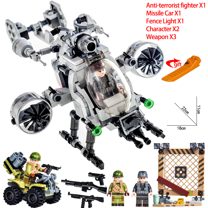 2020 Military Building Blocks Ww2 Bombing Airplane Military jeep Compatible with LegoiNGly Army Vehicle Toys for Children Boy
