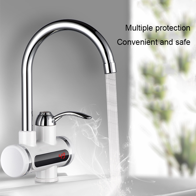 360 Rotate Electric Faucet Tap Hot/Cold Water Sink Heating Instant Device 220V 3000W VJ-Drop