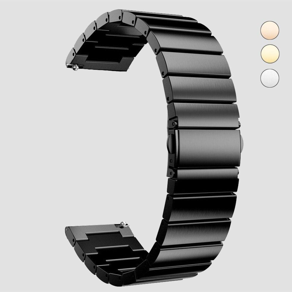 Saatler'ten Saat kayışları'de 20mm 22mm saat kayışı paslanmaz çelik yedek akıllı izle bağlantı bilezik Samsung dişli S2 klasik S3 galaxy izle