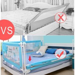 Image 3 - Baby Bett Zaun Hause Sicherheit Tor Produkte kind Pflege Barriere für betten Krippe Schienen Sicherheit Fechten Kinder Leitplanke Kinder Laufstall