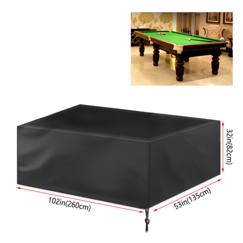 Dustproof Waterproof Outdoor Full Pool Solid With Drawstring Billiard Table Dust Cover Table Protector Oxford Cloth