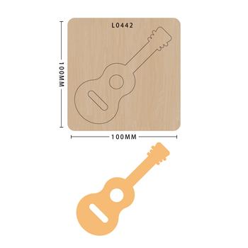 SMVAUON notatnik Die Cut DIY gitara handmade nowe matryce do 2020 drewniany szablon do wycinania formy do wykrawania drewna tanie i dobre opinie Nieregularne Rysunek Leather Tools