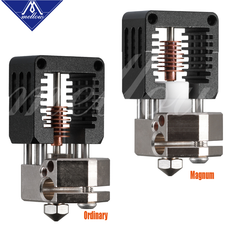 Image 2 - Mellow Nf Crazy Hotend With Bmg Extruder Plated Copper V6 Nozzle Kit For 3D Printer Blv Printing 1.75MM Abs Petg Tpu Nylon Peek-in 3D Printer Parts & Accessories from Computer & Office