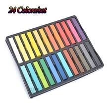 24 Color Hair Chalk Set Soft Crayons Mungyo Chalk Pastels Easy Temporary Hair Chalk Dye Chalk Pastel Drawings