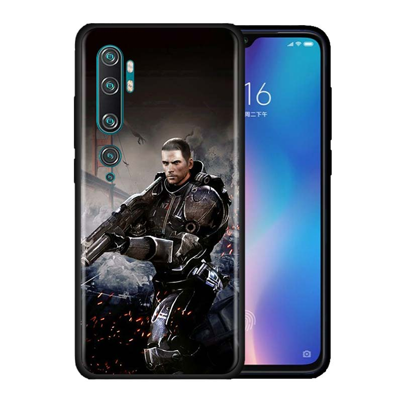 Mass Effect Case For Xiaomi Mi Note 10 9 9T Pro 5G CC9 CC9E 8 A3 A2 Lite Poco X2 F1 Black Soft Phone Cover Bags