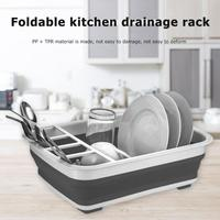 Foldable Bowl Drying Rack Dish Drainer Cutlery Storage Box Drain Bowl Stand Cup Holder Kitchen Accessories Home Organizer|Racks & Holders| |  -