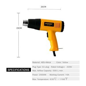 Image 2 - Pistola de aire caliente para soldar, secador de pelo con control de temperatura, soldadura de aire caliente para construcción, pistolas de calor