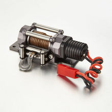 Metal Electric Winch RC Car Parts Accessories for TFL 1/10 Scale Axial 4WD SCX10 Traxxas D90 Rock Crawler