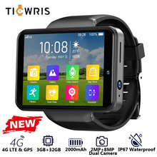 "TICWRIS Max S 4G Android Smart Watch Phone 2.4"" Display Face ID 2000mAh 3GB 32GB 8MP Dual Camera GPS Bluetooth Smartwatch Men"