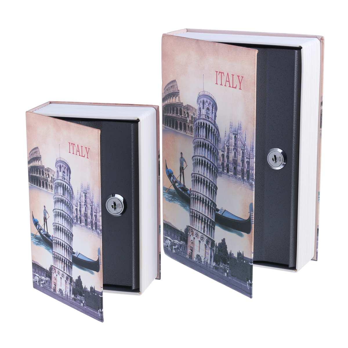 Money Secret Security Safe Box Book Lock Box Book Cash Coin Storage Jewelry Key Locker Storage Container