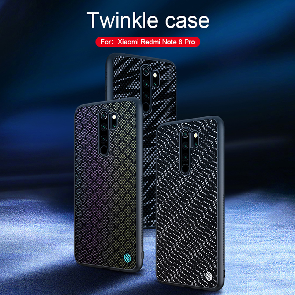 Case For Xiaomi Redmi Note 8 Pro Cover NILLKIN Twinkle Case Polyester Reflective Back Cover For Xiaomi Redmi Note 8