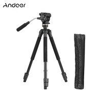 Andoer 59 Lightweight Professional Camera Tripod Portable Travel Aluminum Alloy Tripod For Canon Nikon Sony Tripod with Bag