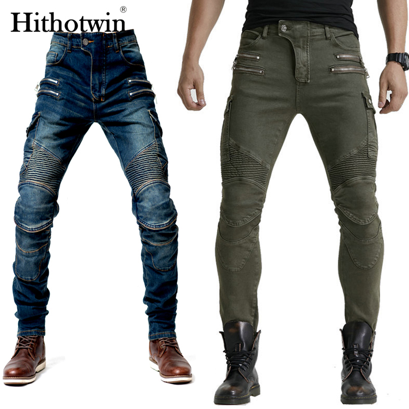 2020 New Motorcycle Pants Men Moto Jeans Zipper Protective Gear Riding Touring Motorbike Trousers Motocross Pants Moto Pants