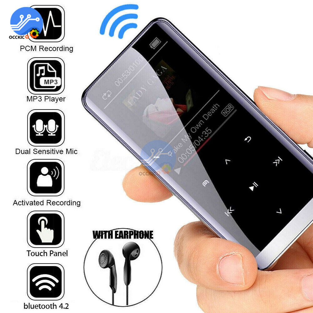 1.5 Inch Bluetooth MP3 Player 8GB 16GB 32GB Music HIFI Playing Reproductor Media Player With FM Radio Recorder
