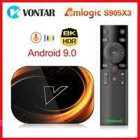Vontar X3 Amlogic S905X3 Android 9.0 TV, pudełko 4GB RAM 64GB ROM 32G 128GB inteligentne 8K dekoder 1000M podwójny Wifi Netflix Youtube