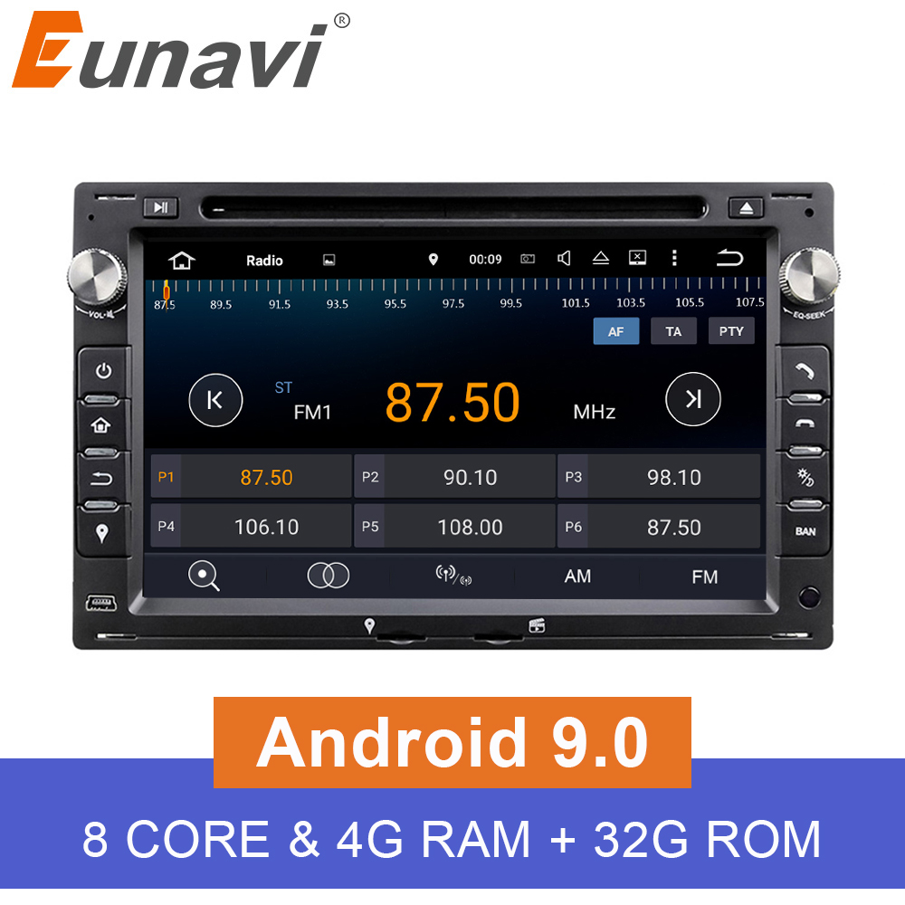 Eunavi Octa Core 4GB RAM 2 din Android 9 0 7 Car DVD GPS Navi For