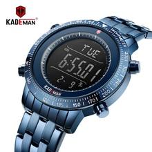 KADEMAN NEW Arrival Luxury Men Watches Sport Male Digital Watch 3TAM Full Steel Fashion Wristwatches TOP Brand Relogio Masculino