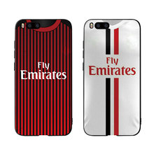 Football Milan Jersey Style Soft Silicone Phone case cover For
