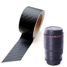 Autocollant pour appareil photo autocollants en fibre de carbone résistant aux rayures Film de Protection des objectifs rugueux autocollant pour Canon Nikon Sony tous les appareils photo