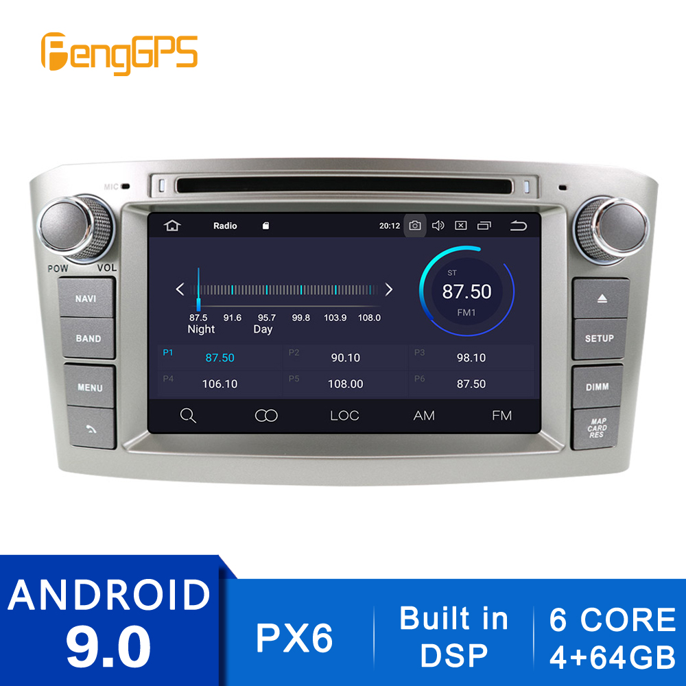 2 Din Android 10.0/9.0 Octa Core Car Radio For Toyota Avensis 2002-2008 GPS Navigation CD DVD Player Built-in DSP WIFI  Headunit