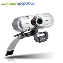 Веб камера papalook pa452 для ПК full hd 1080p usb светодиодный