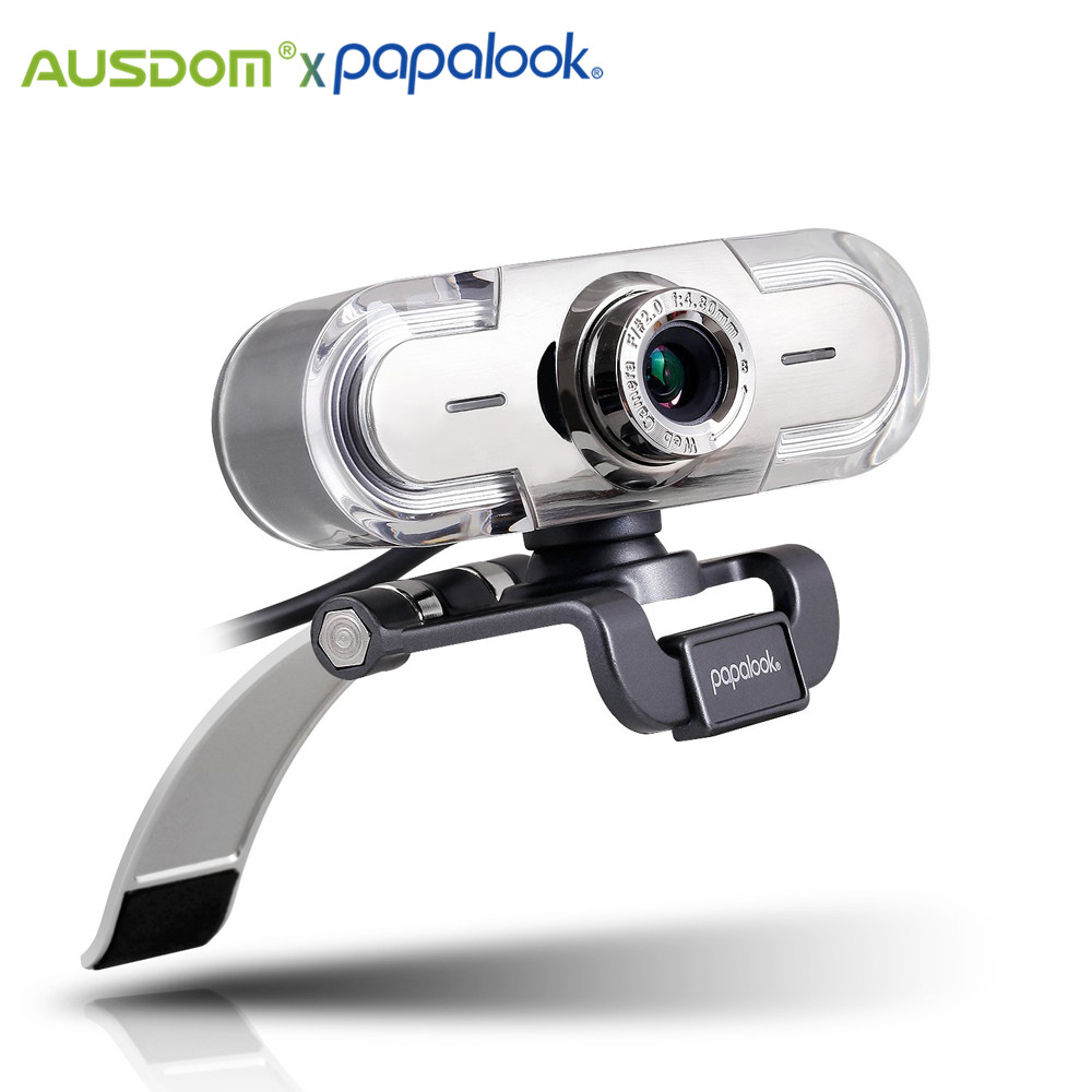 Веб-камера PAPALOOK PA452 для ПК, Full HD 1080P, USB, светодиодный фоном