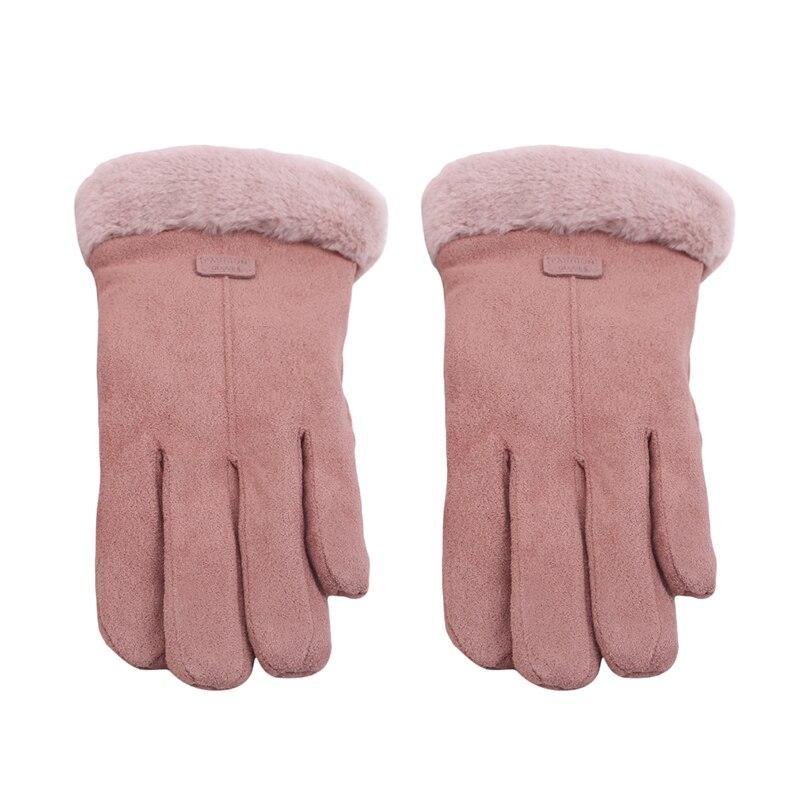 Winter Suede Warm Touch Screen Gloves Sport Running Biking Gloves For Men Women Reflective Thicken Keep Warm Gloves