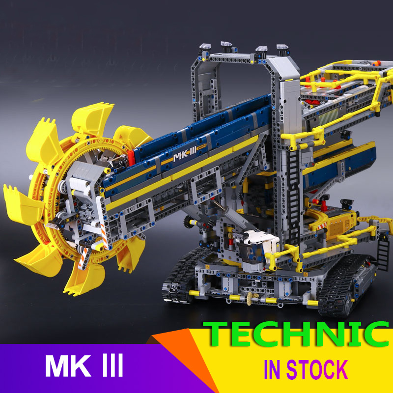 90015 Compatible <font><b>legoingLYS</b></font> <font><b>42055</b></font> 3929pcs bucket wheel excavator electric car Model building blocks Bricks Toys <font><b>Technic</b></font> series image