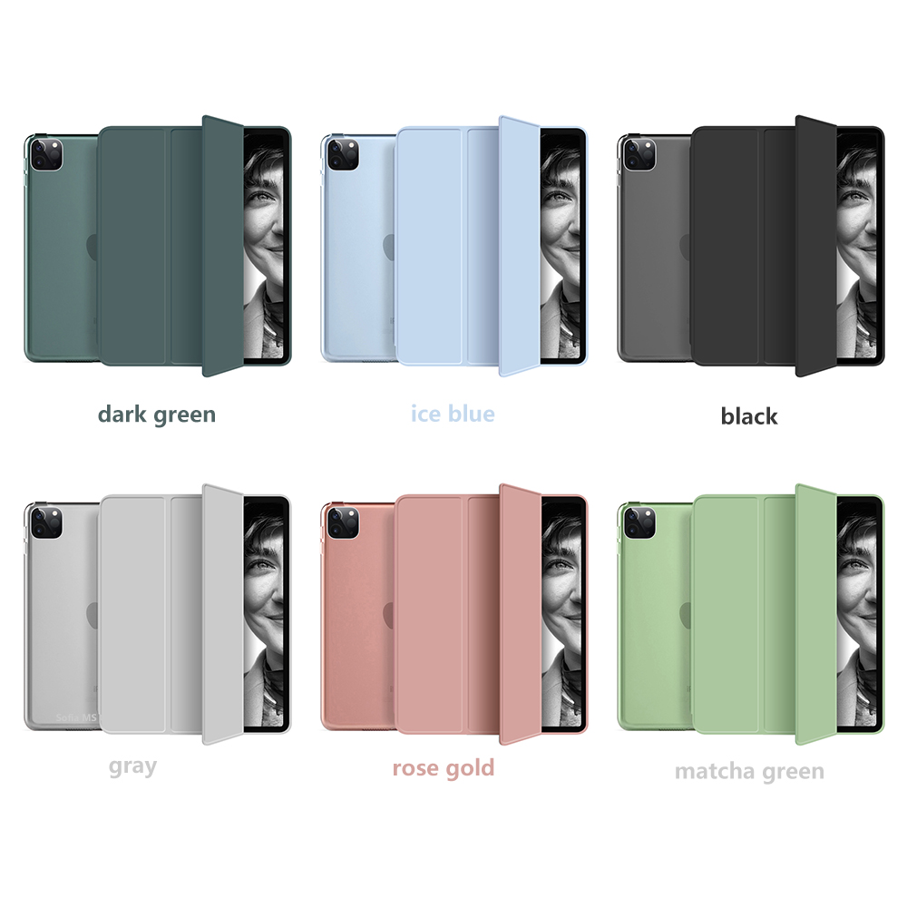 11 Stand Pro with Trifold 2020 soft inch PU iPad Leather Case Hard Funda bottom For PC +