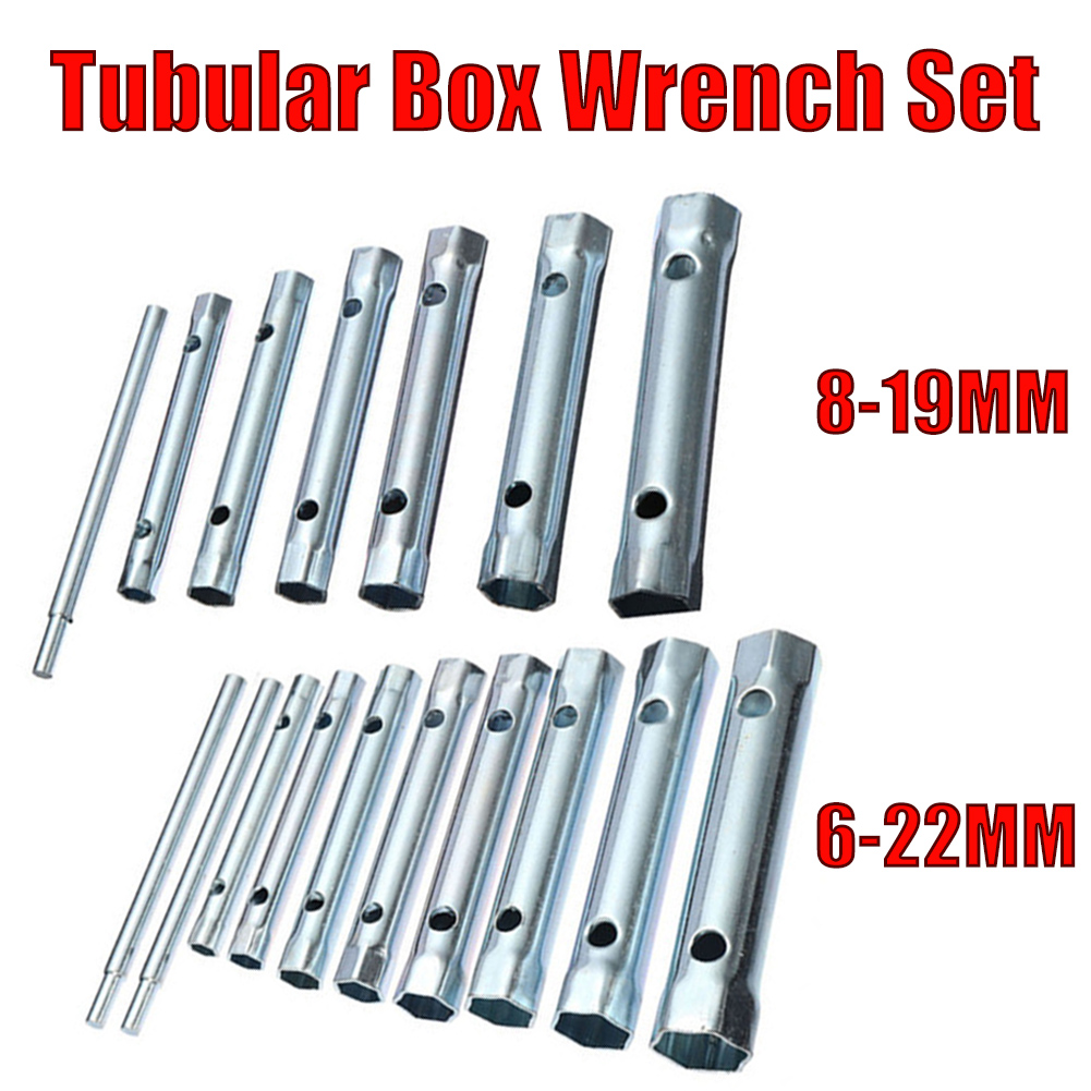 Car Accessories 6Pcs 8-19mm/10pcs 6-22mm Metric Tubular Box <font><b>Wrench</b></font> Set Tube Bar Spark Plug Tool <font><b>16mm</b></font> Spark Plug <font><b>Wrench</b></font> image