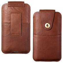 Voor IPhone12 Taille Tas Slanke Universele Lederen Case Pouch Holster Tas Samsung Huawei Smart Telefoon Outdoor Taille Tas Case
