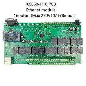 Image 2 - 16 + 8CH 이더넷 PCB 보드 Kincony 스마트 홈 자동화 모듈 컨트롤러 원격 제어 10A 릴레이 DIY 스위치 시스템 Domotica